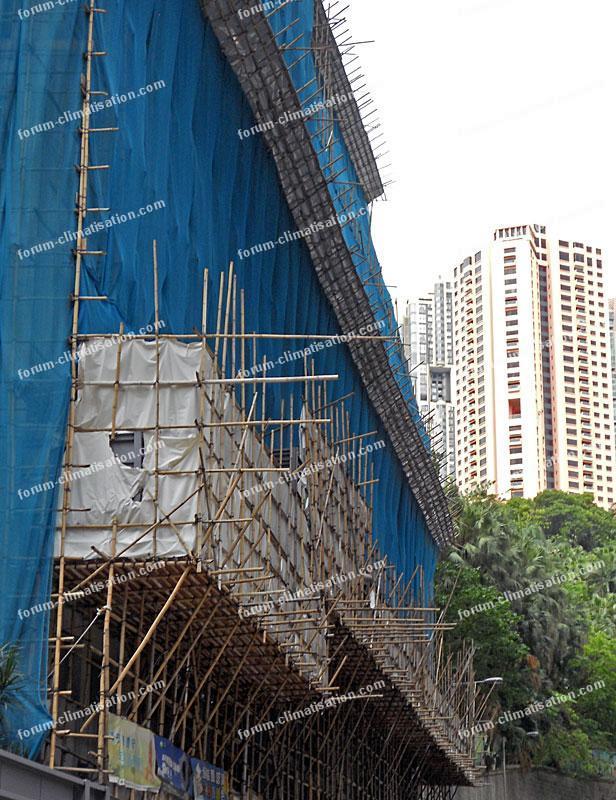 échafaudage en bambou