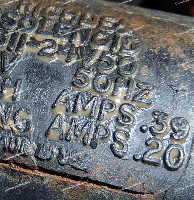 Solenoid électrovanne pompe d'arrosage