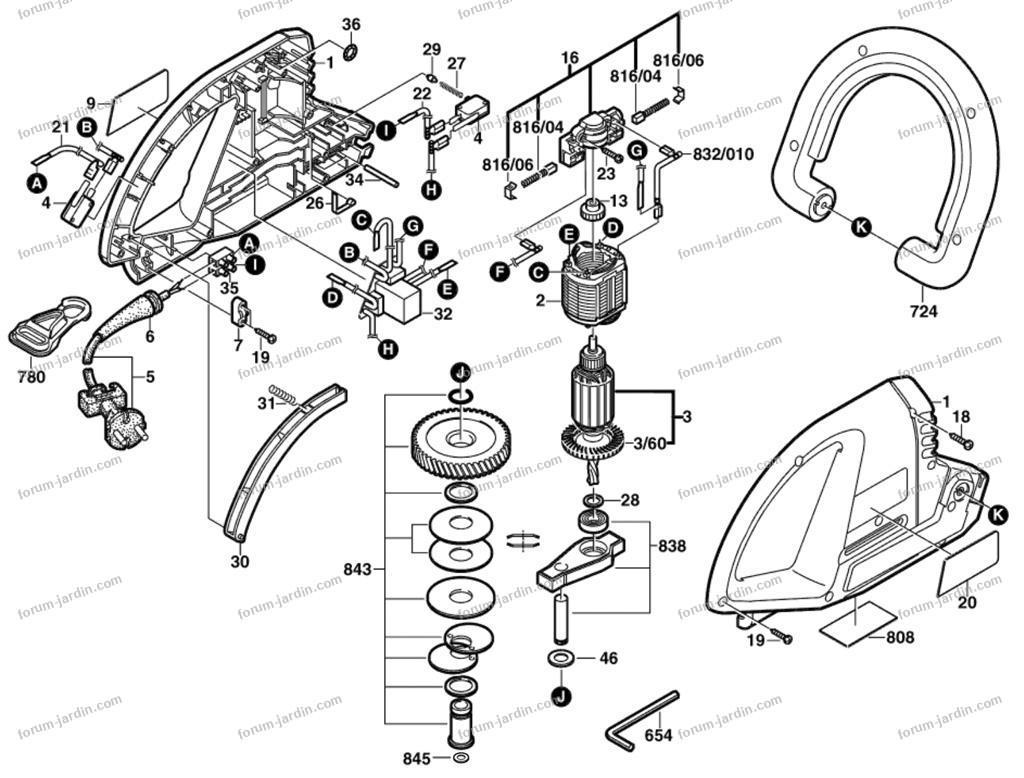 démonter taille-haie Bosch AHS 40